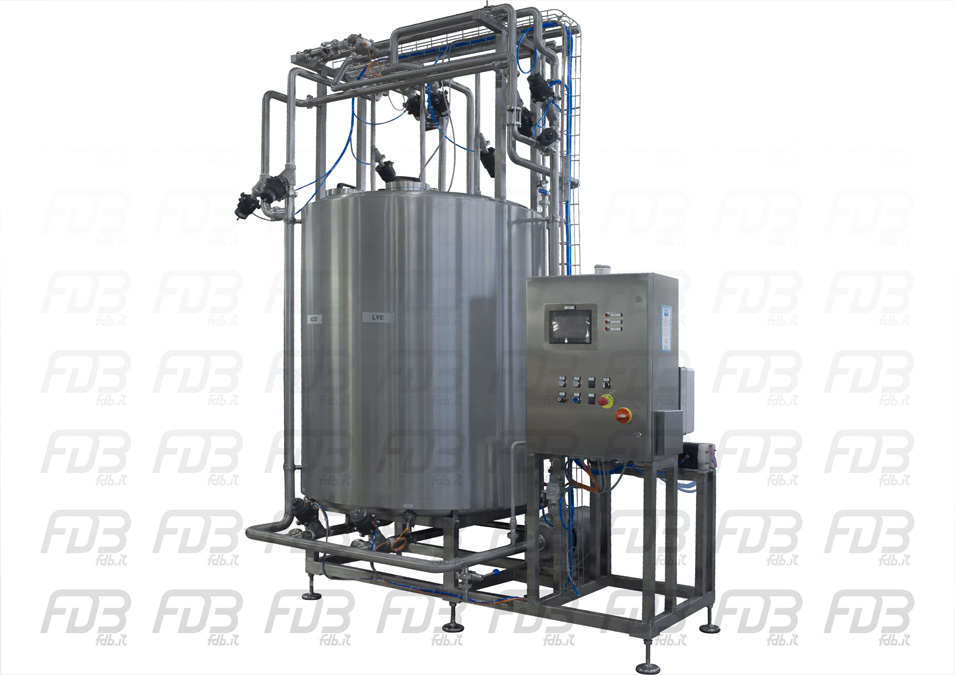 CIP 15000Lh automatic FDB for dairy plant